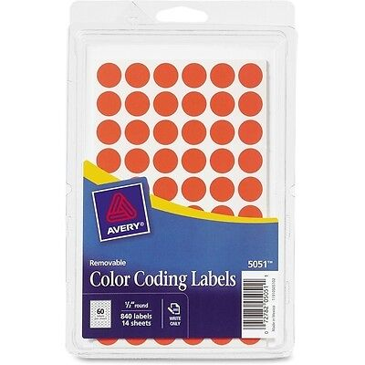 Avery Removable Color Coding Labels