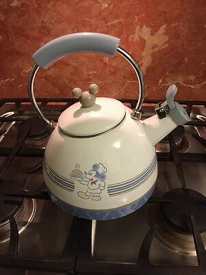 RARE Retired 2012 Disney Tea Kettle Mickey Mouse Gourmet Chef Mickey Mouse