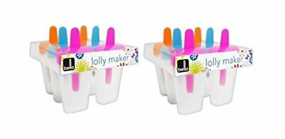 Pack of 6 Bright & Colourful Kids Ice Lolly Makers By Bello
