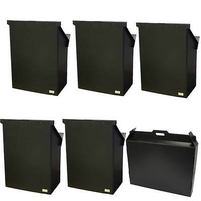 Humes & Berg 28 Inch Swing-It Music Stand 5 Piece Black Set With Case