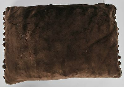 Set Of 4 Cuddly Soft Fur Design Brown Cushion Covers 50 x 35cm (680085)