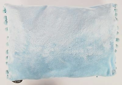 Set Of 4 Cuddly Soft Fur Design Baby Blue Cushion Covers 50 x 35cm (680078)