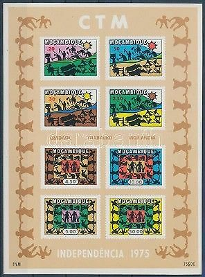 Mozambique stamp Unity, Work, Care - Independence imperf block MNH 1975 WS192791