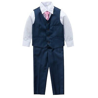 Page Boy Christening Formal Wedding Tuxedo 4pc Navy Suit From 3 Ms - 8 Yrs