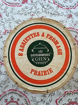 8 assiettes a fromage Gien marie pierre boitard avec boite Set of 6 plate