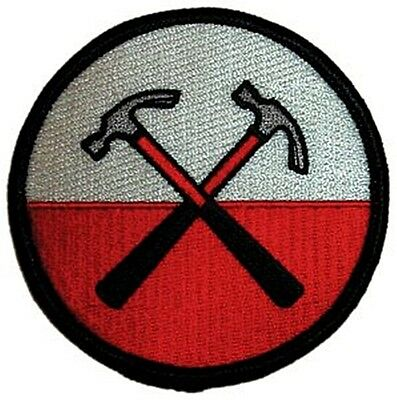 Pink Floyd Hammers iron-on / sew-on cloth patch  75mm x 75mm  (cv)