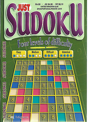 Just Sudoku Book 168+ Puzzles In With 4 Levels Of Difficulty Free P/p