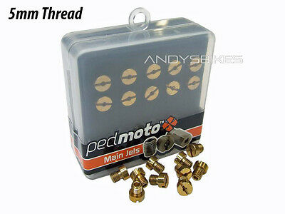 Dellorto Carburettor Jets Carb Main Jet Tuning Kit M5 Thread 5mm - 50 to 72
