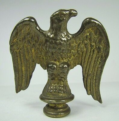 Old Brass Eagle Finial ornate detailed small architectural hardware pole topper