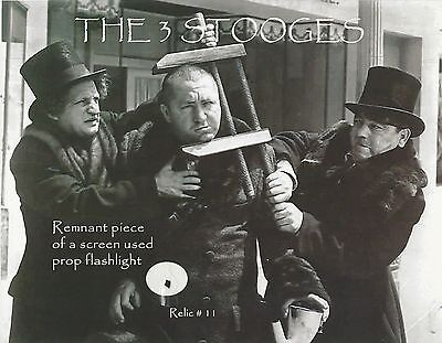 The Three Stooges With Remnant Piece 8.5x10 Photo - Relic # 11