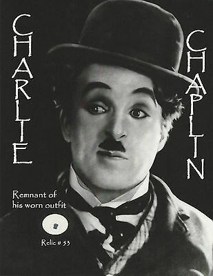 Charlie Chaplin With Remnant Piece 8.5x10 Photo - Relic # 53