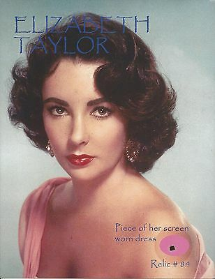 Elizabeth Taylor With Remnant Piece 8.5x10 Photo - Relic # 84