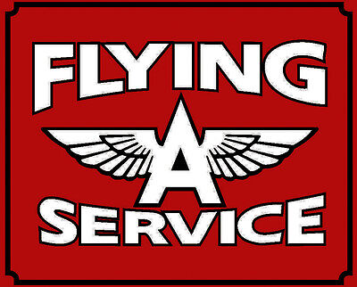 """Fling """"A"""" Service Sign 26"""" by 21""""  Baked Enamel"""