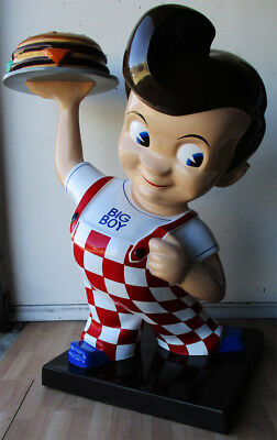 Bob's Big Boy Restaurant Advertising Fiberglass Statue (video)