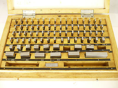 81 Piece Gage Gauge Block Set For Precision Machinist Tooling Metalworking