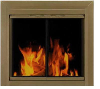 Fireplace Glass Doors Pleasant Hearth Cahill Classic Antique Brass Finish