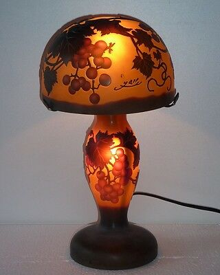THE CHERRY RED lamp glass paste style Gallè GL8-53