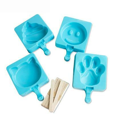 Pop Durable Silicone Ice Cream Popsicle Maker Cake Jelly Lolly Frozen Mold Tray