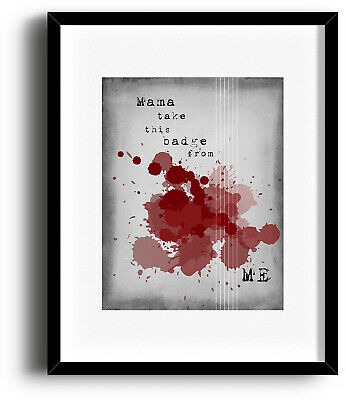 Guns n' Roses KNOCKING ON HEAVENS DOOR Song Lyric Music Poster (PRINTS CANVAS)