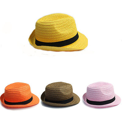 Job Lot of 50PCS Ladies Straw Trilby Hats with Black Band Fashion Hot Sellers