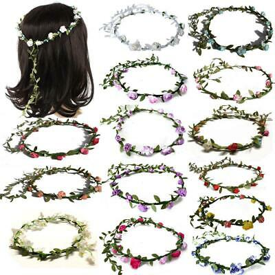 Job Lot Boho Flower Headband Beach Party Festival HAIR GARLANDS Mixed Colours