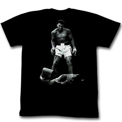 Muhammad Ali Over Sonny Liston Ko Knock Out Sports Fighting Boxing T Tee Shirt