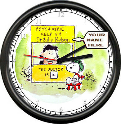 Personalized Psychiatrist Counselor Psychologist Office Gift Sign Wall Clock