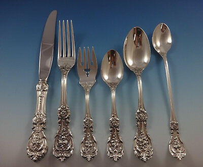 Francis I Reed & Barton Sterling Silver Dinner Flatware Set Service 72 Pieces