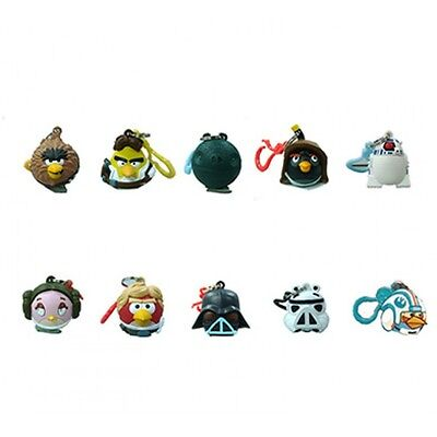 Star Wars Angry Birds Hangers Keychain Figures Complete Collection Of 10