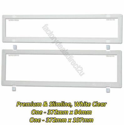 Number Plate Covers Premium & Slimline -Clear One Pair 6NLPW White Border