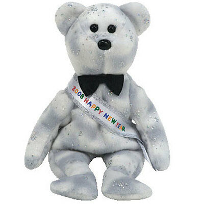 TY Beanie Baby - NEW YEAR 2008 the Bear (8.5 inch) - MWMTs Stuffed Animal Toy