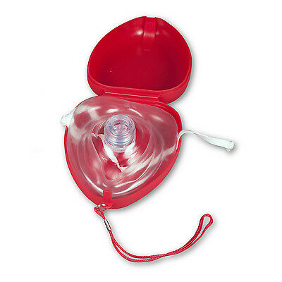 2 (TWO) New Pocket Size CPR Masks With Ambu Hard Cases