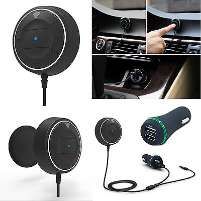 HandsFree Bluetooth 4.0 Music Receiver Player Hands Free Car Kit USB Charger New