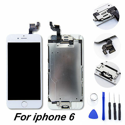 Full iPhone 6 LCD Touch Screen Digitizer Assembly Replacement+Home Button+Camera