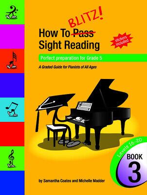 How to Blitz Sight Reading Book 3 - Samantha Coates *NEW* Edition, AMEB, Piano