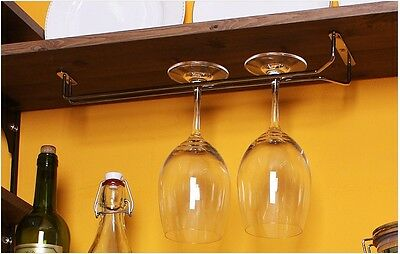"Wine Glass Wall Rack Holders Hanger Chrome-plated 11.7"" 15.7"" Kithchen KOREA"