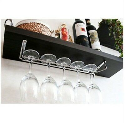 "Wine Glass Wall Rack Holders Hanger Chrome-plated 11.7"" 15.7""  Home Kithchen"
