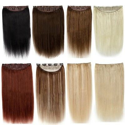 "Tengda 16-22"" Thick One Piece Clip Remy Human Hair Extensions 100g 120g 140g"