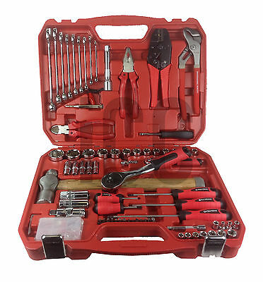 101pc large tool set screwdrivers spanners hammer kit apprentice car repair BIG