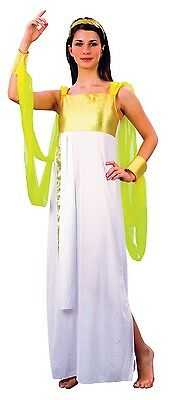 Ladies Sexy Grecian Goddess Roman Toga Greek Fancy Dress Costume Outfit 10-12-14