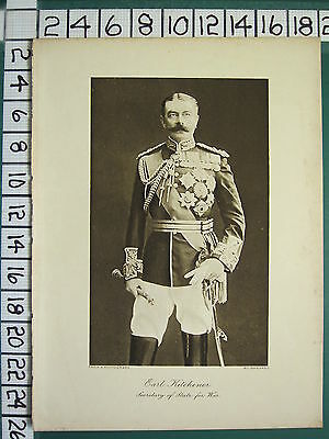 1916 Wwi Ww1 Print ~ Earl Kitchener Secretary Of State For War