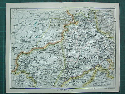 1893 India Empire Map ~ India Section Iii ~ Afghan Frontier ~