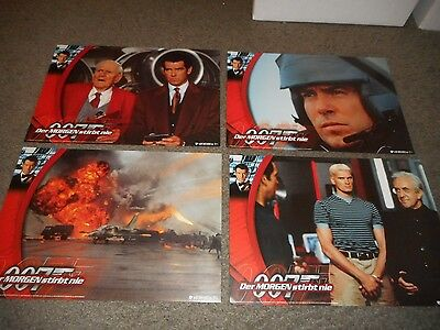 Tomorrow Never Dies - Set Of 8 Original German Lobby Cards - Pierce Brosnan