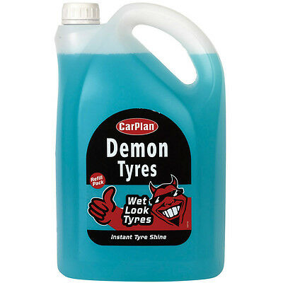 CarPlan Demon Tyres Wet Look Tyres Instant Tire Shine Dressing Finish 5 Litre