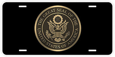 United States Seal Aluminum Novelty Car License Plate