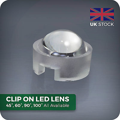 15 30 45 60 90 100° degree LED lens for homemade Aquarium PAR grow light beads