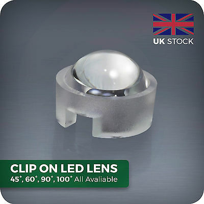 Push-fit Lenses for 1W 3W LED 45 60 90 100 degree angle Aquarium grow light lens