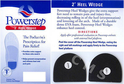POWERSTEP 2 Degree Heel Wedges Relieve Arch Pain Overpronation ALL SIZES USA New