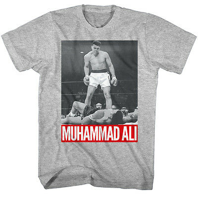 Muhammad Ali Over Sonny Liston Red Text Ko Sports Fighting Boxing T Tee Shirt