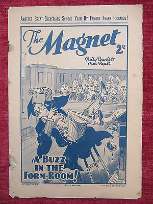1938 The Magnet Greyfriers Comic Magazine Vintage Collectable FC15